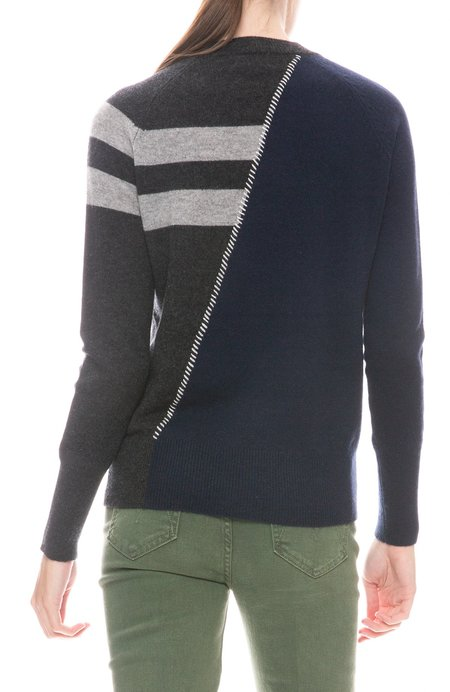 27 Miles Darcy Two Tone Sweater - Navy