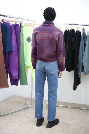 Martine Rose High Waisted Crotch Zip Jean - Indigo