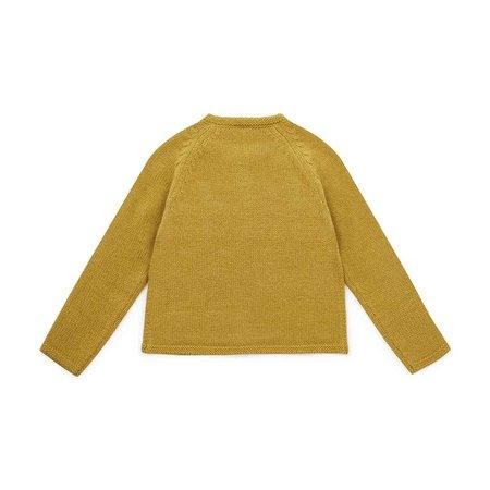 kids bonton baby cardigan - mustard