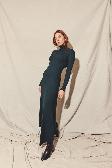 Kamperett MOOR TURTLENECK DRESS - FOREST