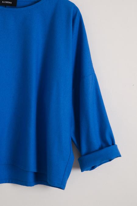 A.Cheng Dolman Top - Cobalt
