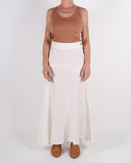 Feather Drum Reva Maxi Skirt - Milk