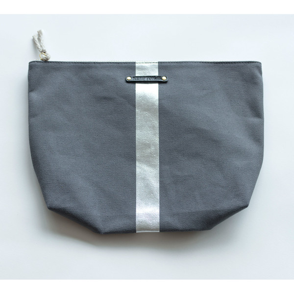 6c35a1d47827 Kempton & Co Metallic Stripe Beach Pouch - SOLD OUT | Garmentory