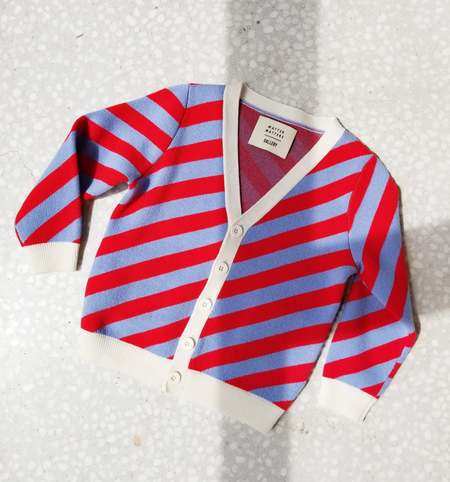 KIDS MATTER MATTERS V-Neck Cardigan - Striped Red