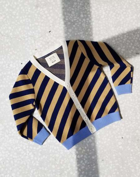 KIDS MATTER MATTERS V-Neck Cardigan - Striped Navy