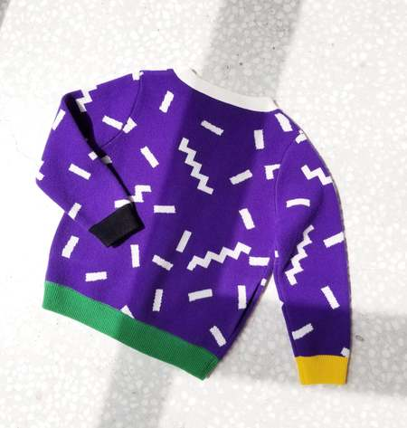 Kids MATTER MATTERS V-Neck Cardigan - Purple