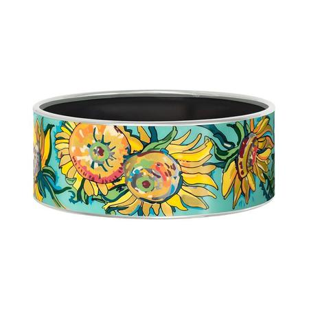 FreyWille Hommage A Vincent Van Gogh Bordered Donna Bangle - Fleurs D'or Jour