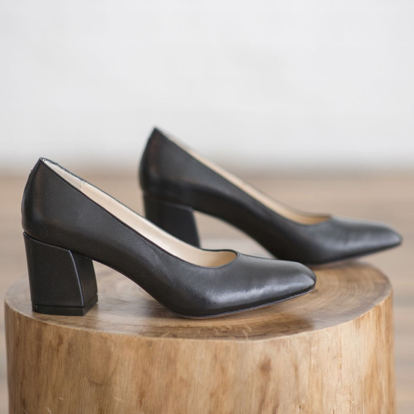 Maryam Nassir Zadeh Leather Square-Toe Pumps huge surprise 1c5mgPTR