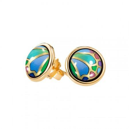 FreyWille Hommage A Alphonse Mucha Papillon Cabochon Earrings