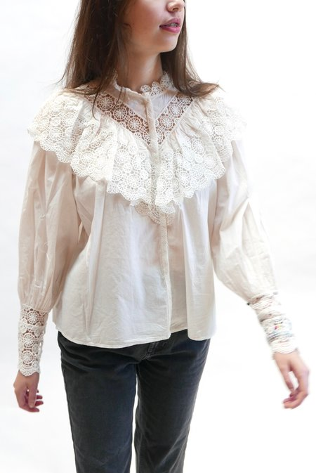 Ulla Johnson Ethel Blouse - Blanc