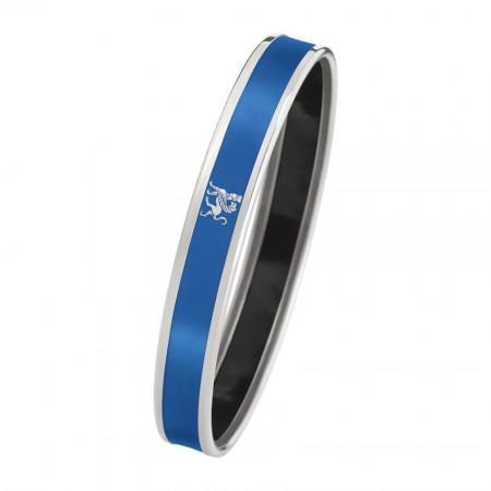 FreyWille Monochrome Bordered Bangle Mademoiselle - Lapis Blue/Silver