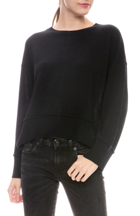 Autumn Cashmere Boxy Snap Side Sweater