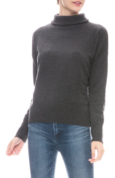 Autumn Cashmere Relaxed Mock Neck Cashmere Sweater