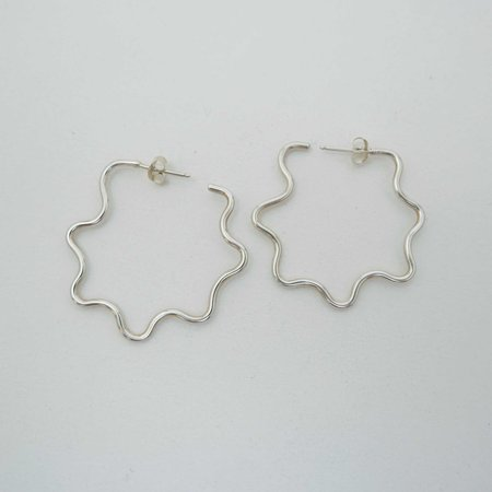 COSMIC TWIN Chill Baby Hoops - sterling silver