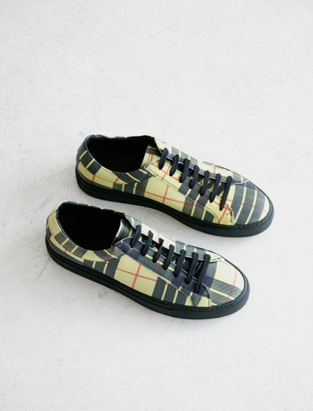 Erik Schedin Tartan Leather Sneaker