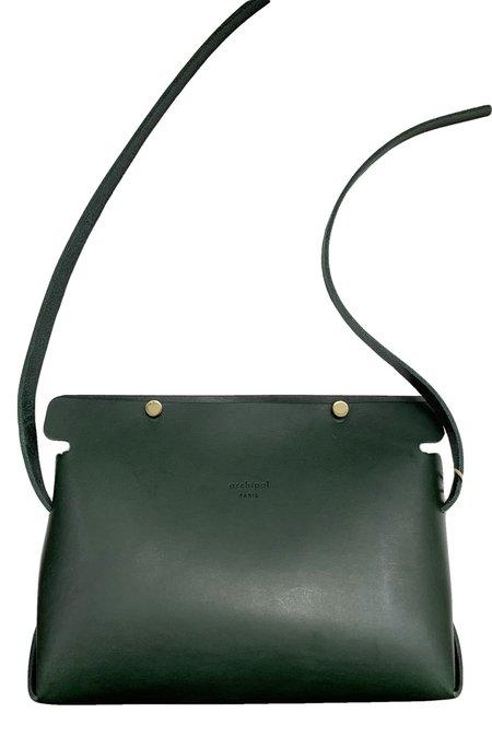 Archipel Paris No 12 Le Petit Pince Handbag - Vert Sapin