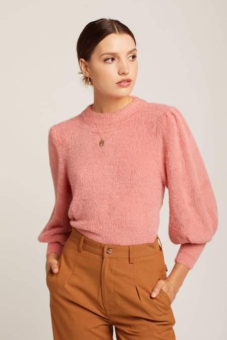 For Love & Lemons Whitney Sweater - Rose