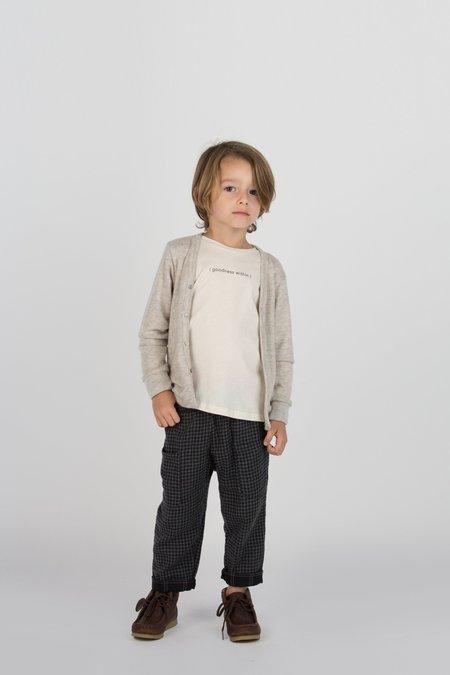 Kids Go Gently Nation Woven Pocket Pant - Tan/Black Gingham