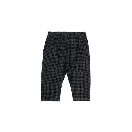 Kids Go Gently Nation Woven Pocket Pant - Gray/Black Gingham