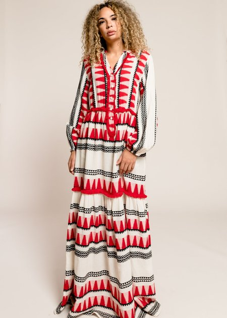Devotion Zakar Long Dress - Red