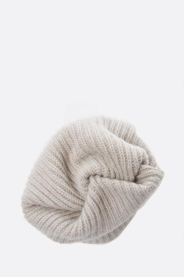 Mature Ha Pleats Knit Cap - Light Grey