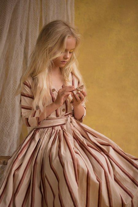 Kids Feather Drum Layne Dress - Brandy Stripe