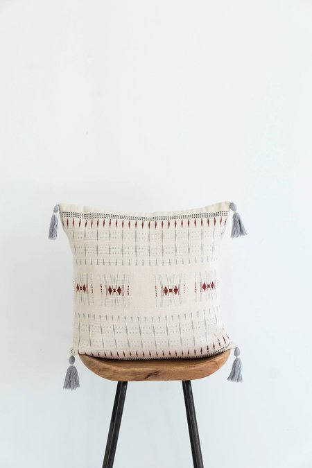 Karu Nagaland Cushion - Ivory/Rust