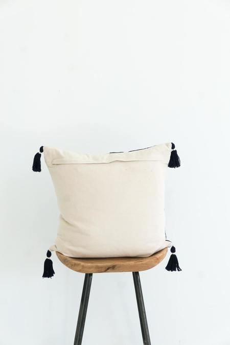 Karu Nagaland Cushion - Midnight/Ivory