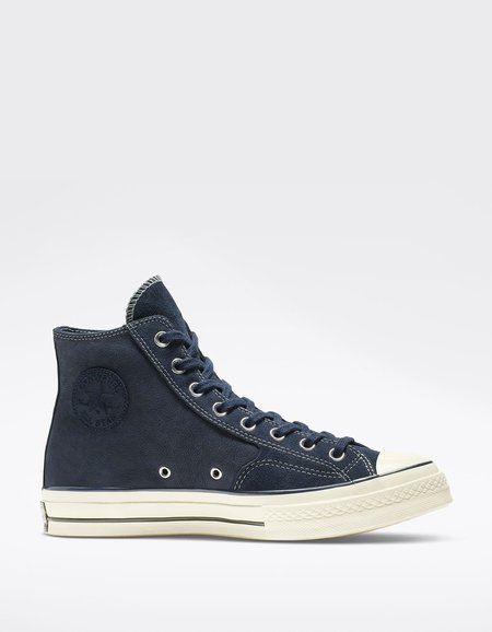 Converse Chuck 70 Leather High Top - Obsidian/Egret/Black