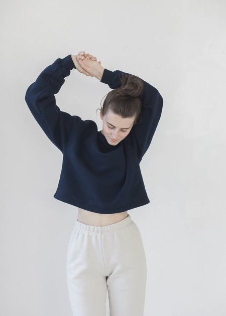 Harlin Kelly Crop Sweatshirt - Midnight