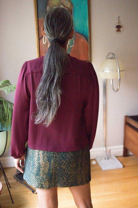 Eve Gravel Digital World Skirt - Snake
