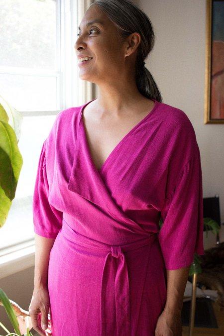 Eve Gravel Silent Circle Dress - Fuchsia