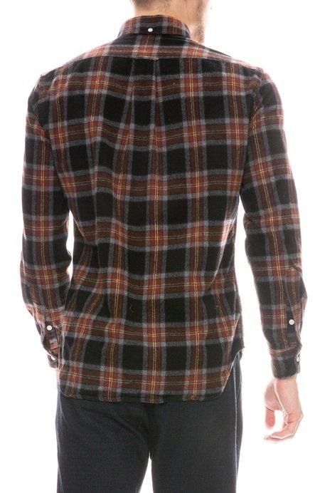 Hartford Paul Plaid Flannel Shirt - BROWN/RED