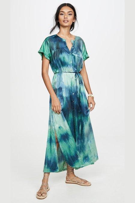 Raquel Allegra POET DRESS - JADE TIE DYE