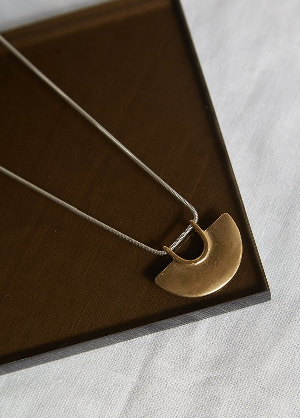 Tiro Tiro Tempus Necklace - Bronze/Sterling Silver