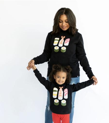 WHISTLE & FLUTE Sushi Hooded Sweatshirt - Black