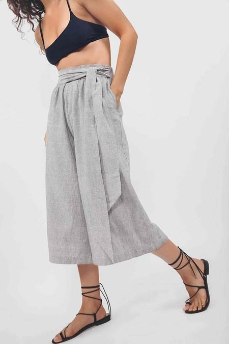 Par en Par Tie Waist Culottes - Stripe