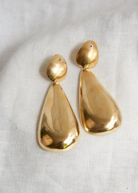 Lila Rice Delfina Earrings - Brass