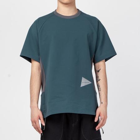 and wander Hybrid Base Layer T-shirt - Green