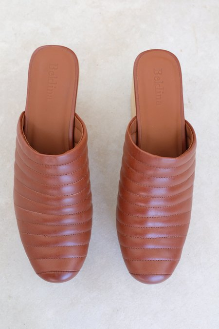 Beklina Ribbed Clog - Wet Clay
