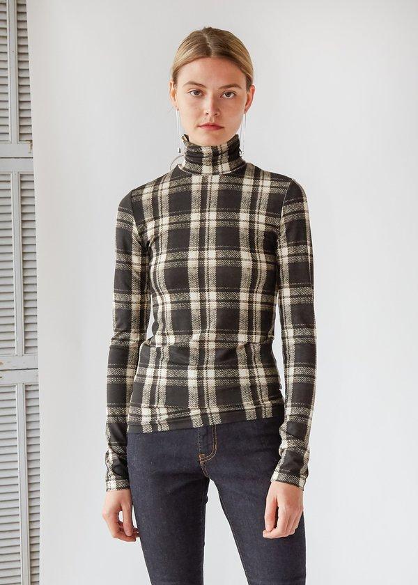 Gwyneth top checkered turtleneck