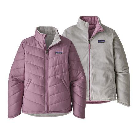 Kids Patagonia Reversible Snow Flower Jacket - Verbena Purple