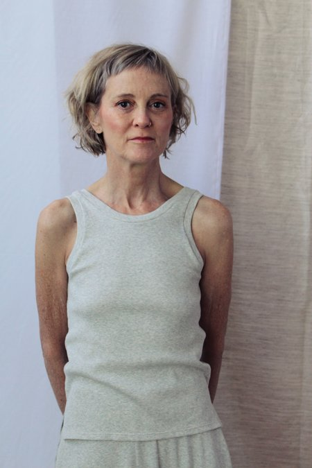 Lois Hazel Smooth Rib Tank - Grey