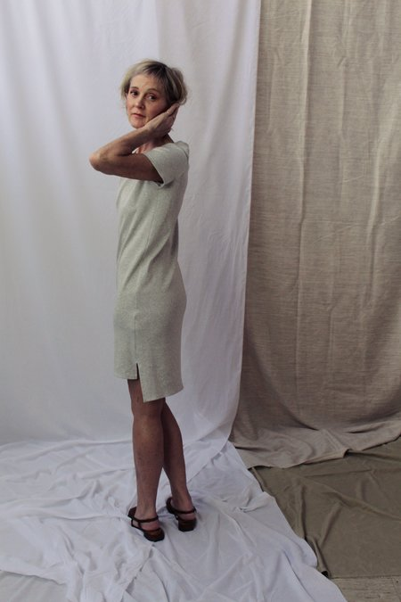 Lois Hazel Smooth Rib Tee Dress - Grey