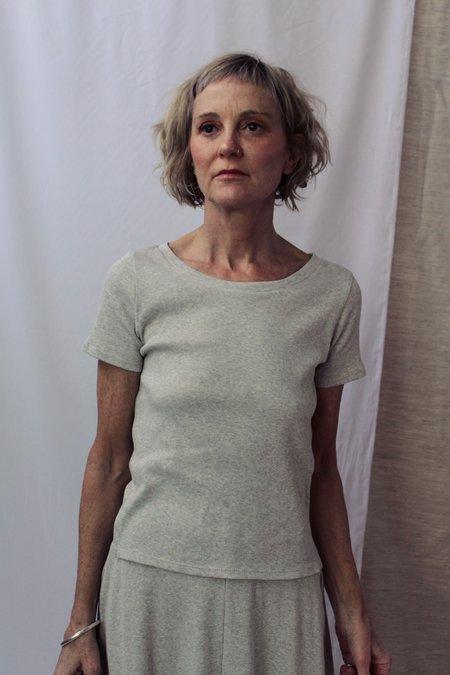 Lois Hazel Smooth Rib Tee - Grey