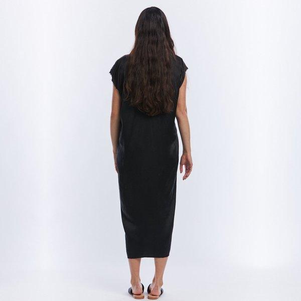 Miranda Bennett Knot Silk Charmeuse Dress - Black