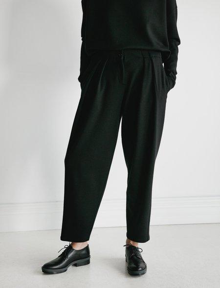 Dusan Pants with Pleats Jersey - Black
