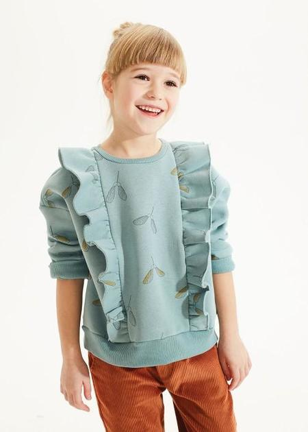 kids on the moon samara frill sweatshirt