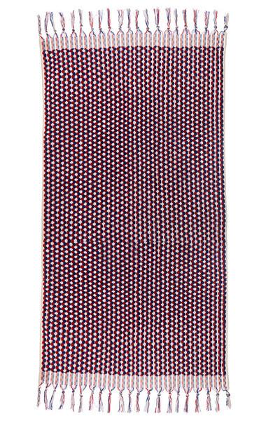 Lowell Tama Towels / Serviette Intrepid - Rouge Marine Blanc