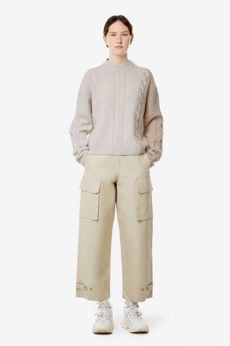 Kitsune Cable Knit Pullover - Ecru/Beige
